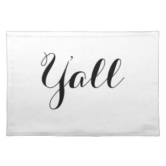 Y'all Typography Place Mats