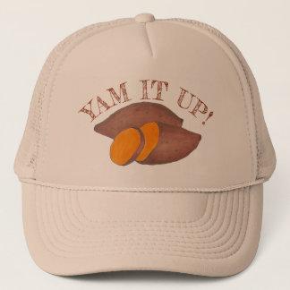 Yam It Up Funny Orange Sweet Potato Foodie Cooking Trucker Hat