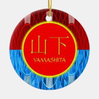 Yamashita Monogram Fire & Ice Round Ceramic Decoration