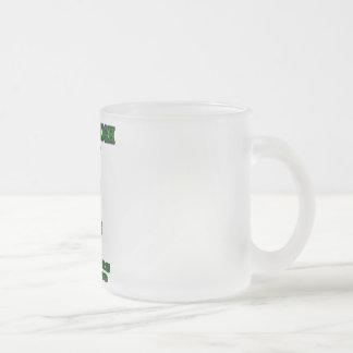 yamato high school frosted glass coffee mug