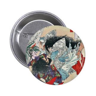 Yamato Takeru no Mikot by Taiso, Yoshitoshi Ukiyoe 6 Cm Round Badge