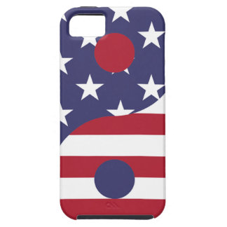 Yang Yin America Flag Abstract Art Asian Balance Case For The iPhone 5