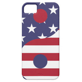 Yang Yin America Flag Abstract Art Asian Balance iPhone 5 Cover