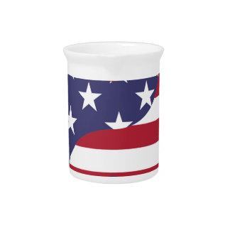 Yang Yin America Flag Abstract Art Asian Balance Pitcher