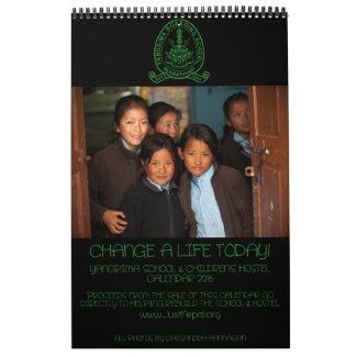 Yangrima Boarding School & Hostel 2016 Calendar