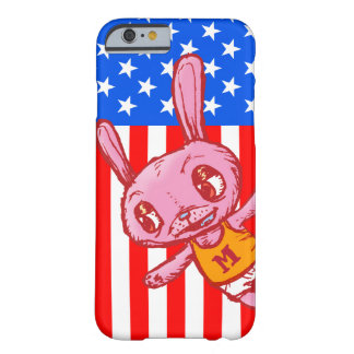 Yankee Doodle Bunny Cartoon iPhone Case Barely There iPhone 6 Case