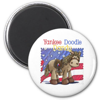 Yankee Doodle Dandy 6 Cm Round Magnet
