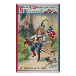Yankee Doodle Vintage Fourth of July Poster