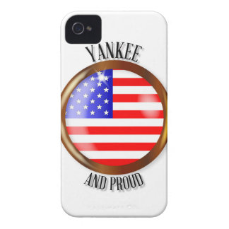 Yankee Proud Flag Button iPhone 4 Cases