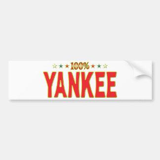 Yankee Star Tag Bumper Sticker