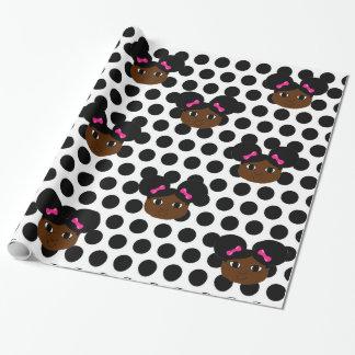 Yanna Pink Bows and Polka Dots Gift Wrap