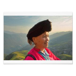 Yao lady photo print