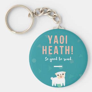 Yaoi Heath Button Key Ring