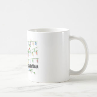 Yappy Holidays Shih Tzu Happens Basic White Mug