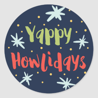 Yappy Howlidays Holiday Stickers
