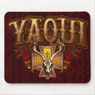 Yaqui Deer Skull Design Mouse Pad