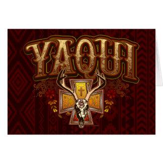 Yaqui Deer Skull Design Postcard