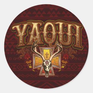 Yaqui Deer Skull Design sticker b