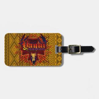 Yaqui Nation Deer Skull Design Luggage Tag