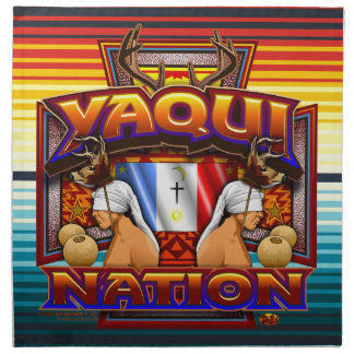 Yaqui Nation Flag Deer Dancer design cloth napkins