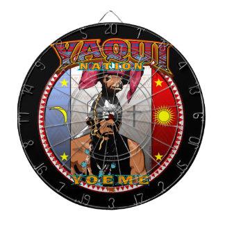 Yaqui Yoeme Deer Dancer design Dartboard