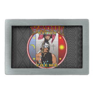 Yaqui Yoeme Deer Dancer design Rectangular Belt Buckle
