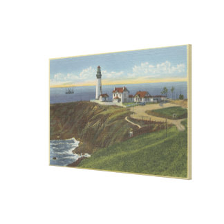 Yaquina Light House on Yaquina Head Stretched Canvas Print