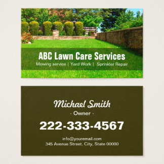 Lawn care business cards business card printing zazzle for Lawn and garden care services