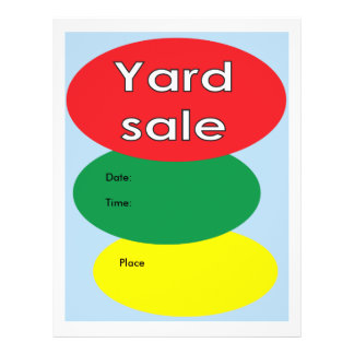 Yard sale 21.5 cm x 28 cm flyer