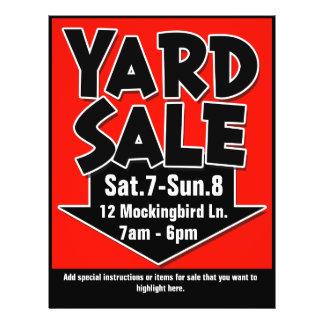 YARD SALE customisable flyer/poster