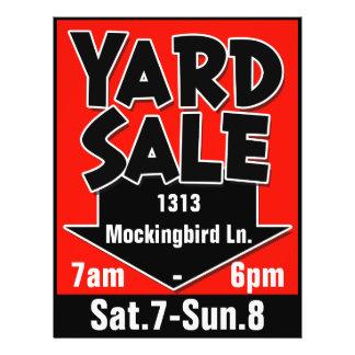 YARD SALE customizable flyer/poster 21.5 Cm X 28 Cm Flyer