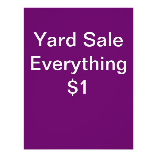 Yard Sale Flyers