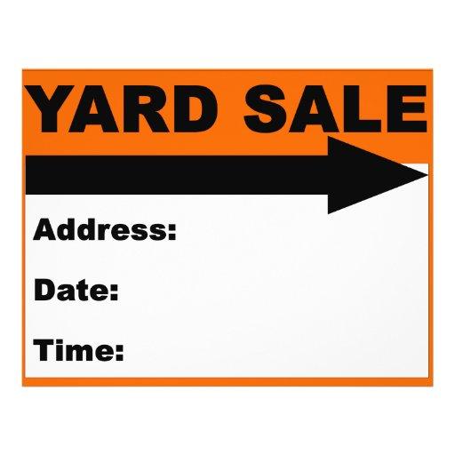 Yard Sale Flyer/Sign