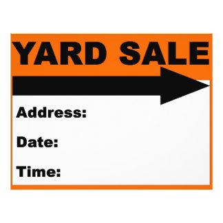 Yard Sale Flyer/Sign 21.5 Cm X 28 Cm Flyer
