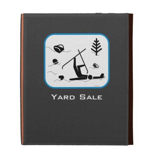 Yard Sale - Funny Ski Design with Custom Text iPad Folio Cover