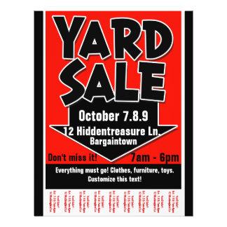 Yard Sale.Garage Sale.Customizable.Tearsheet 21.5 Cm X 28 Cm Flyer