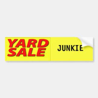 Yard Sale Junkie Car Bumper Sticker