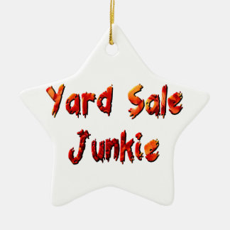 Yard Sale Junkie Ceramic Star Decoration