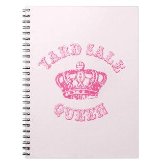 Yard Sale Queen Spiral Note Books