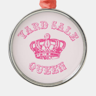 Yard Sale Queen Silver-Colored Round Decoration