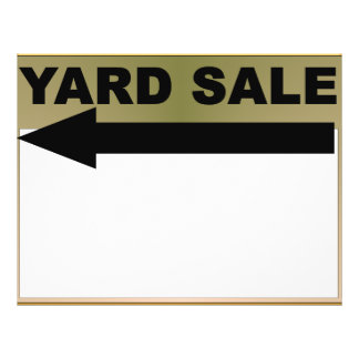 Yard Sale Sign 21.5 Cm X 28 Cm Flyer