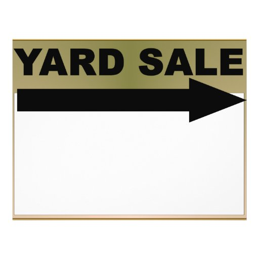 Yard Sale Sign Personalized Flyer