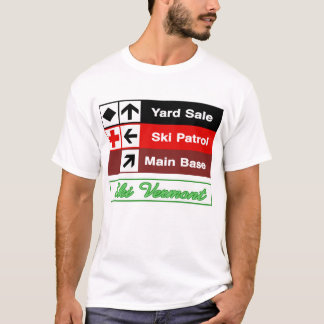 Yard Sale Ski Patrol Ski Trail Sign T-Shirt