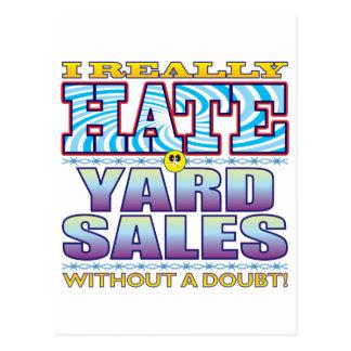 Yard Sales Hate Face Postcard