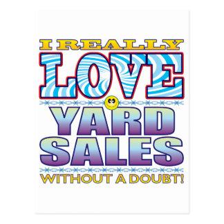 Yard Sales Love Face Postcard