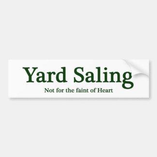 Yard Saling Bumper Sticker