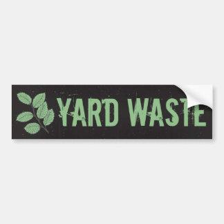 Yard Waste Garbage Trash Can Label Bumper Sticker