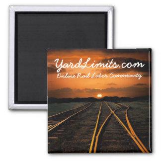 YardLimits.com Magnetic Button Square Magnet