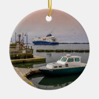 Yarmouth Ferry Ceramic Ornament