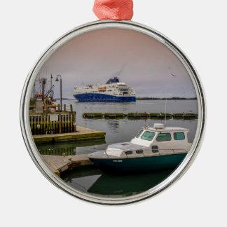 Yarmouth Ferry Metal Ornament